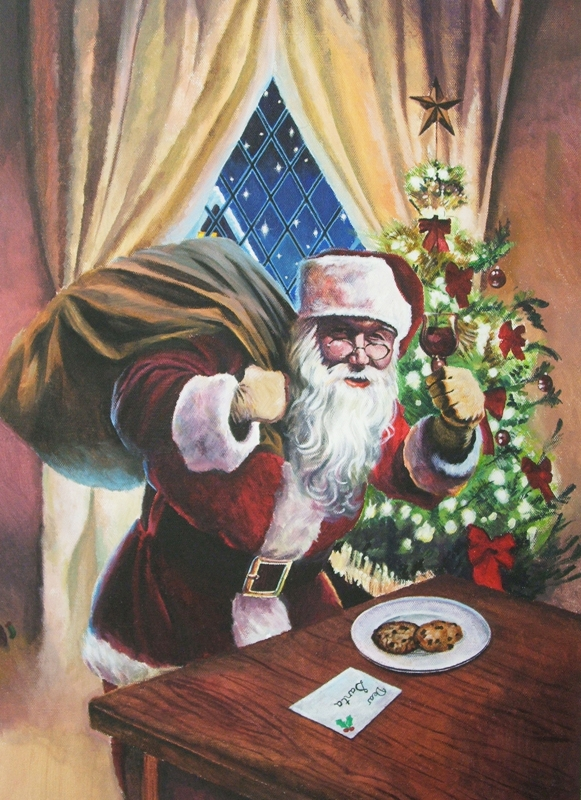 Sheppard Santa Claus for a wine label